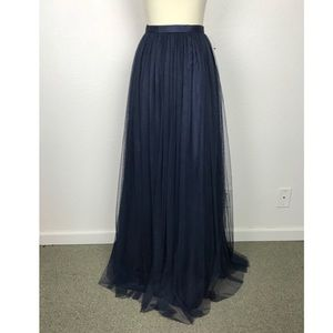 Adrianna Papell Navy Tulle Lined Skirt NWOT